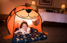 Family fun tent in room