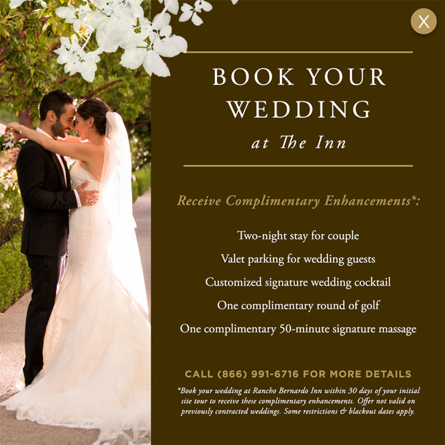 Book Your Wedding by June 30, 2017