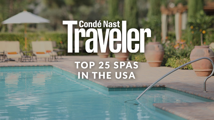 CondeNast Traveler Top 25 Spas in the USA