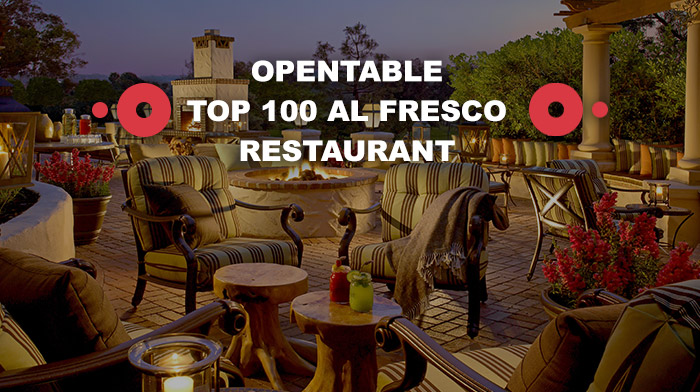 OpenTable Top 100 Al Fresco Restaurant