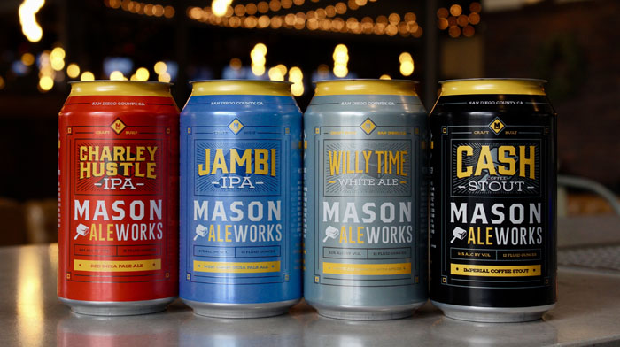 Mason ale works beer cans
