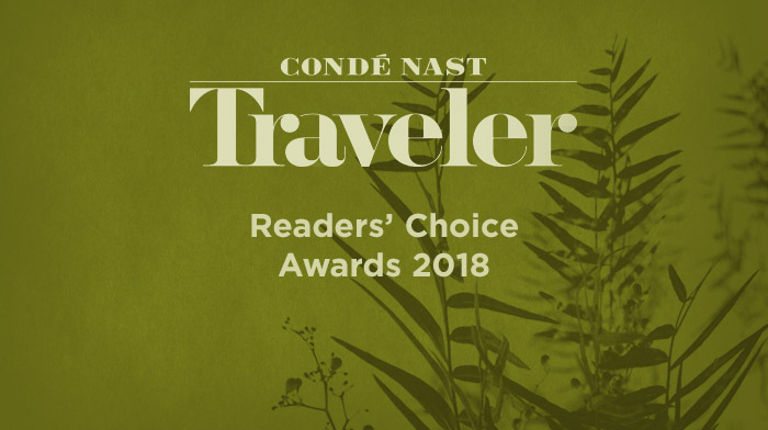 2018 Conde Nast Traveler Readers' Choice Award