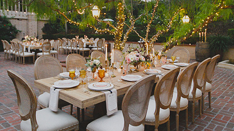 Wedding Reception at Santiago Courtyard